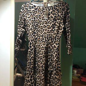 Kate Spade leopard dress NWT size 0